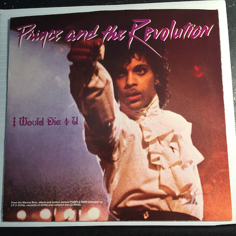 Prince - I Would Die 4 You b/w Another Lonely Christmas - WB #29121 - 80's