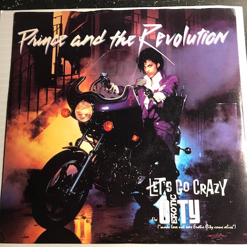 Prince - Let's Go Crazy b/w Erotic City - WB #29216 - 80's