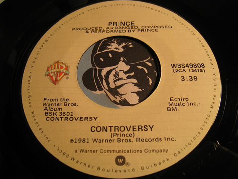 Prince - Controversy b/w When You Were Mine - WB #49808 - 80's