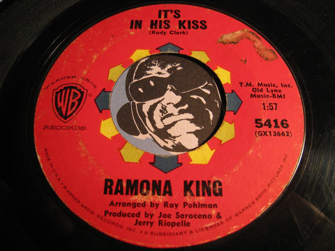 Ramona King - It's In His Kiss b/w It Couldn't Happen To A Nicer Guy - WB #5416 - Girl Group