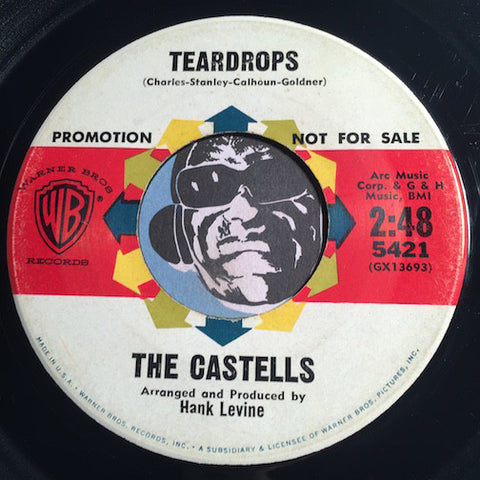 Castells - Teardrops b/w I Do - WB #5421 - Doowop - Surf