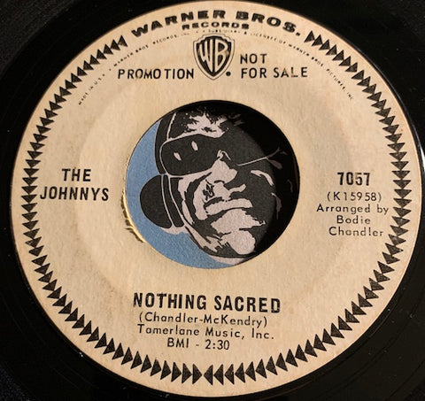 Johnnys - Nothing Sacred b/w I Remember - WB #7057 - Garage Rock