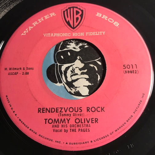 Tommy Oliver - Rendezvous Rock b/w (Theme from the TV show) Maverick - Warner Bros #5011 - Rock n Roll