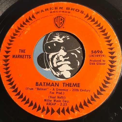 Marketts - Batman Theme b/w Richie's Theme - Warner Bros #5696 - Rock n Roll - Surf