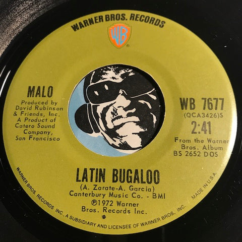 Malo - Latin Bugaloo b/w Midnight Thoughts - Warner Bros #7677 - Chicano Soul