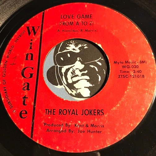 Royal Jokers - Love Game (From A To Z) b/w same (instrumental) - Wingate #020 - Northern Soul
