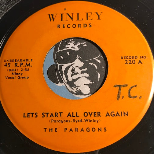 Paragons - Let's Start All Over Again b/w Stick With Me Baby - Winley #220 - Doowop