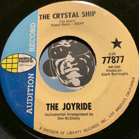 The Joyride - The Crystal Ship b/w Coming Soon - World Pacific #77877 - Psych Rock