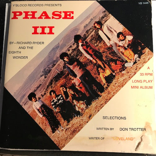 Richard Ryder & Eighth Wonder - Phase III - Take Your Time - I''m Your Man b/w Let There Be Love - Be Happy Now - Y'Blood #1145 - Funk - Picture Sleeve