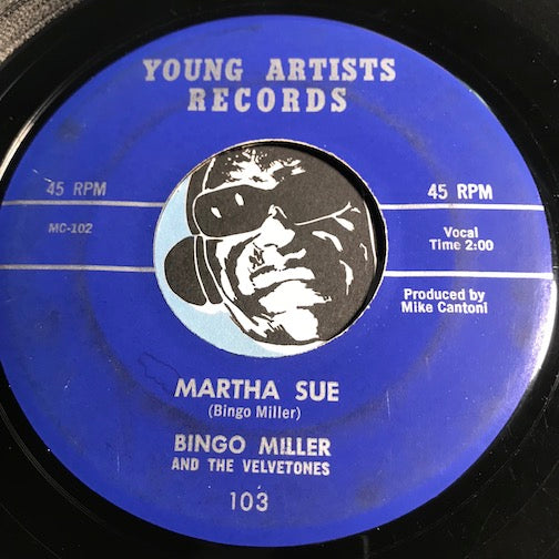 Bingo Miller & Velvetones - Martha Sue b/w I Know A Valley - Young Artists #103 - Rockabilly