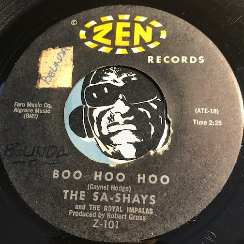 Sa-Shays - You Got Love b/w Boo Hoo Hoo - Zen #101 - Doowop - Northern Soul
