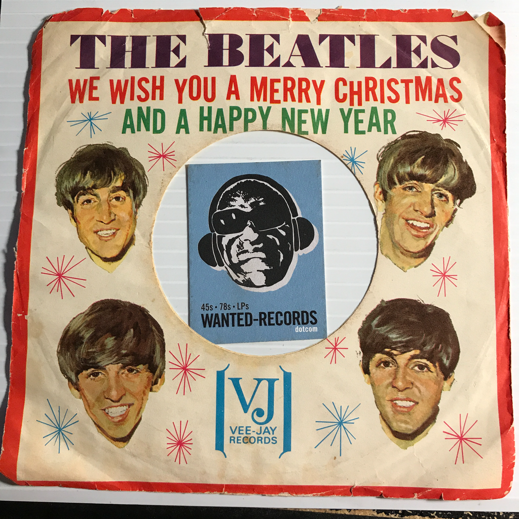 Beatles - We Wish You A Merry Christmas and a Happy New Year - SLEEVE - Vee Jay - Rock n Roll