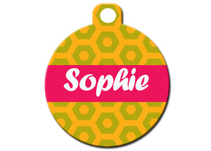 Pattern Tag With Name Plate