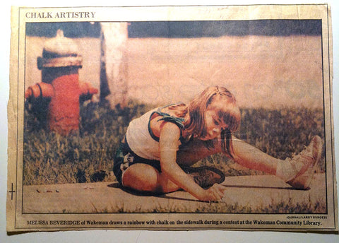 I was super famous in the local paper as an artist. haha!
