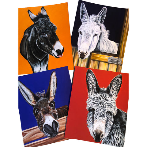 Donkey Fine Art Prints - Series of 4