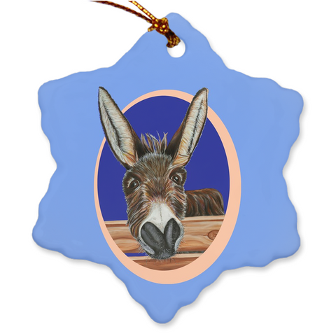 Donkey Porcelain Holiday Ornament - Jimbob