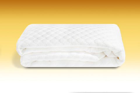 Add a mattress toper to your sofa bed, folded mattress topper for extra cushioning
