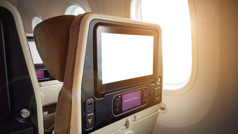 bright screen in air plane and light from air plane window making sleep difficult