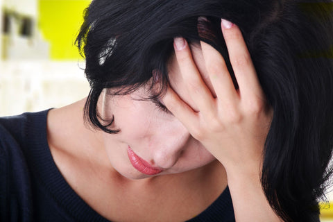 Emotional problems and anxiety causing insomnia, woman being disstressed