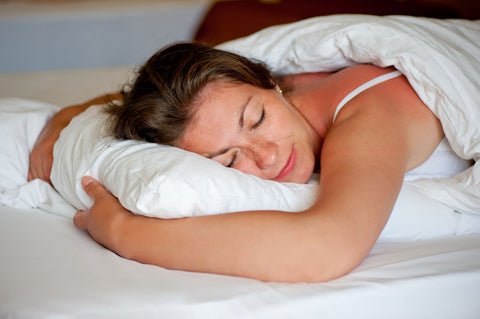 Shoulder Pain Relief for Stomach Sleepers, woman sleeping soundly on stomach