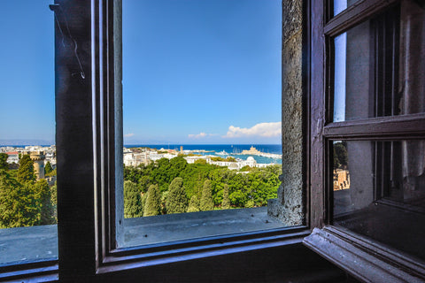 Increase oxygen level in room, open window with view