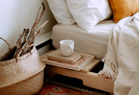Platform beds are very functional, platform bed with integrated shelf