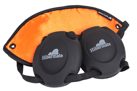 Gen 3. 2015 Model Tangerine Orange Hibermate Sleep Mask with Ear muffs for sleeping