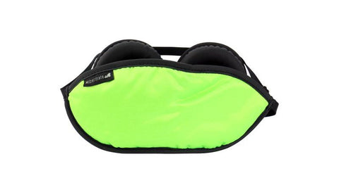 The 2017 Gen 5. Hibermate Sleep Mask with Sleeping Ear Muffs - Kickstarter Green