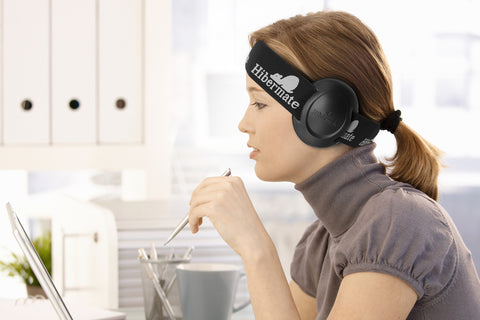 All-New Hibermate Headband with Ear Muffs for bed, meditiation, airplanes, autism & more