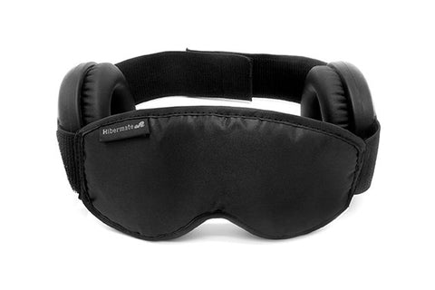 The Generation 4 2016 Hibermate Sleep Mask with Ear Muffs - Pitch Black