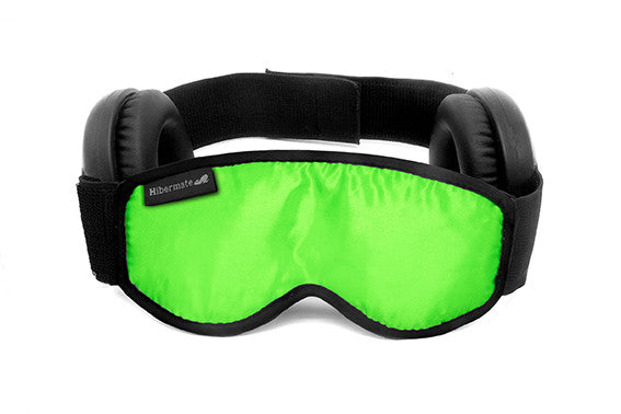 The all-new Generation 4 2016 Hibermate Sleep Mask with Ear Muffs - Kickstarter Green - Free Shipping