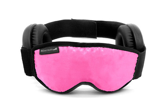 The all-new Generation 4 2016 Hibermate Sleep Mask with Ear Muffs - Hot Pink