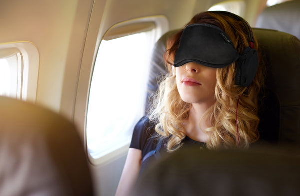 The All-New 2019 Gen 6 Hibermate Sleep Mask with Sleeping Ear Muffs - Pitch Black