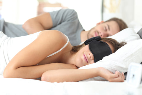 The All-New 2019 Gen 6 Hibermate Sleep Mask with Sleeping Ear Muffs - Dark Navy
