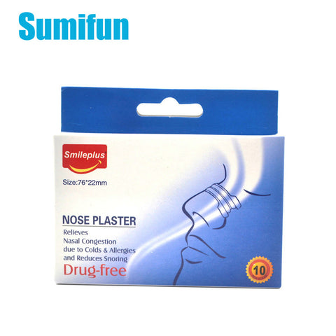 10Pcs Breathe Better Anti Snoring Nasal Strips - helps relieve nasal congestion.