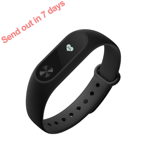 Original Xiaomi Mi Band 2 Bracelet with Sleep Tracking & Heart Rate/Fitness Tracking with Touchpad OLED Screen