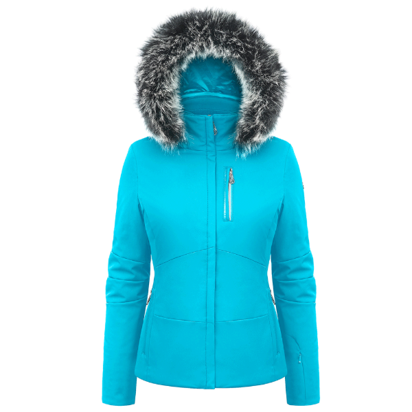 Ladies W19 0802 Womans /A Stretch Ski Jacket - Poivre Blanc - Poivre Blanc