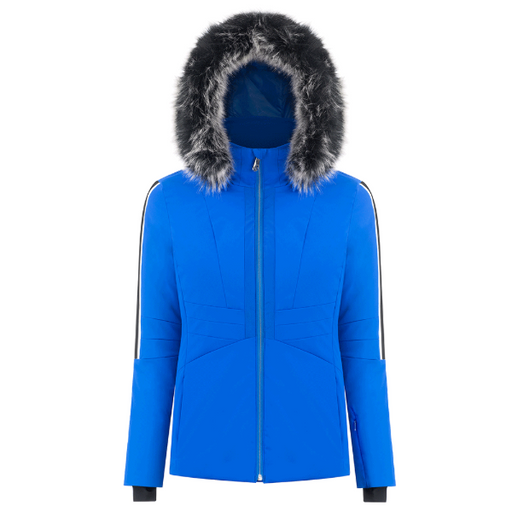 Ladies W19 0803 Womans /A Stretch Ski Jacket - Poivre Blanc - Poivre Blanc