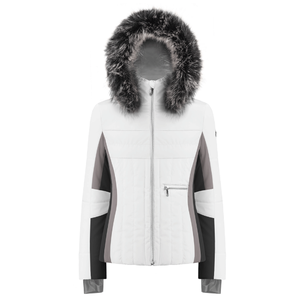 Ladies W19 1002 WO/A Ski Jacket - Poivre Blanc