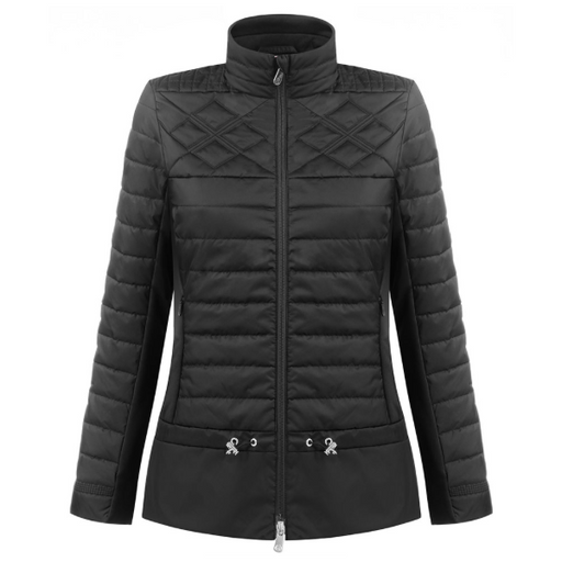Ladies W19 1250 Womans Hybrid Quilted Ski Jacket - Poivre Blanc - Poivre Blanc