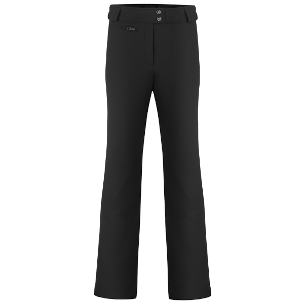 Ladies W19 1120 Womans /C Softshell Short Ski Pants - Poivre Blanc - Poivre Blanc