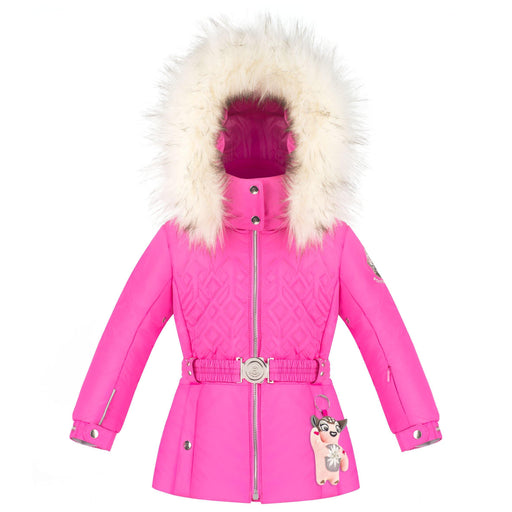 Ski Jacket With Elastic Belt - W20-1003-Baby Girls /A - 279632 - Poivre Blanc - Poivre Blanc