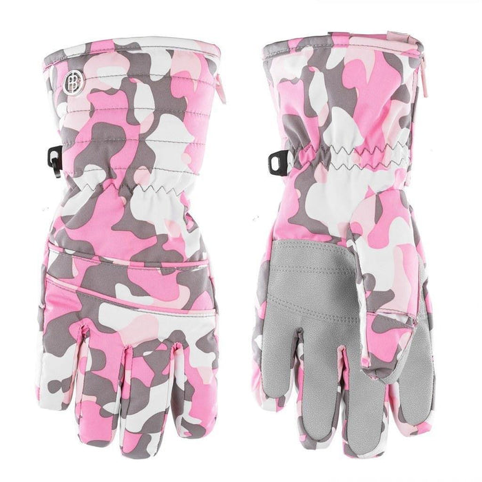 Kids W19 1070 Junior Girls Ski Gloves - Poivre Blanc - Poivre Blanc