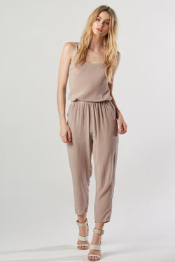 SILK PANT - TAUPE