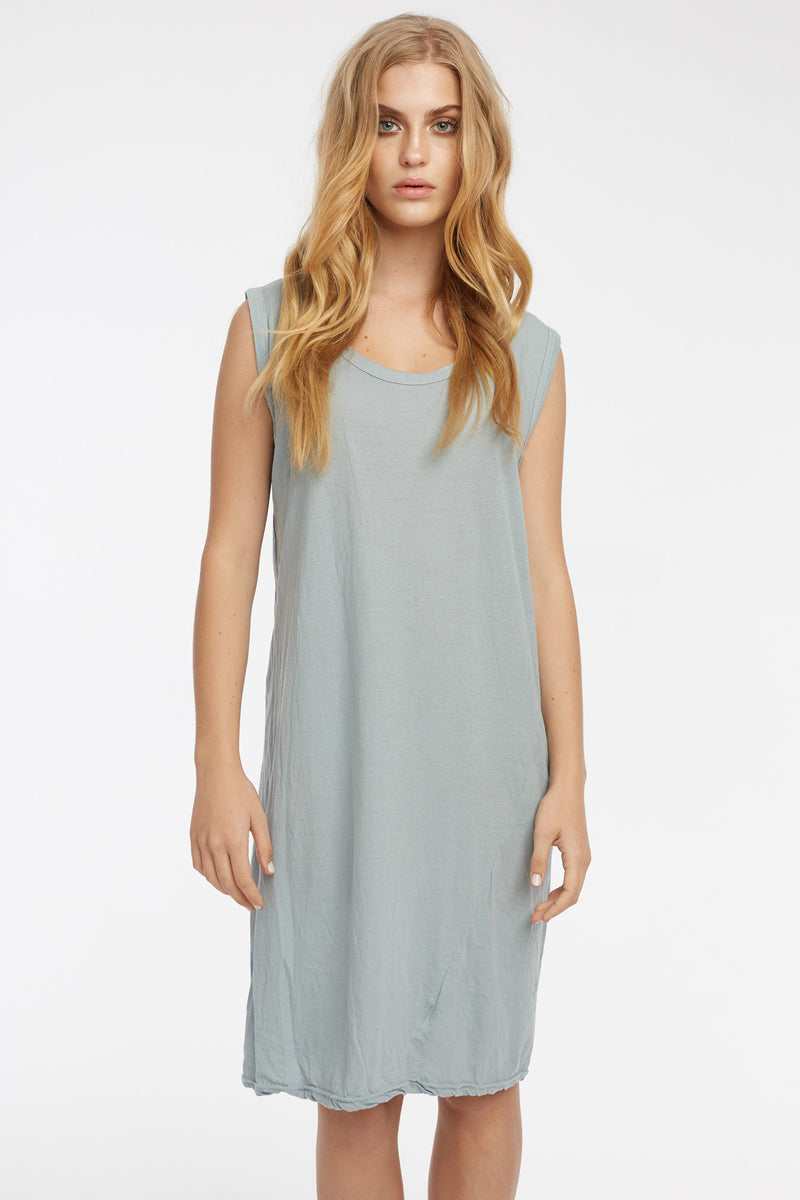 EASY TANK DRESS - DOVE GREY