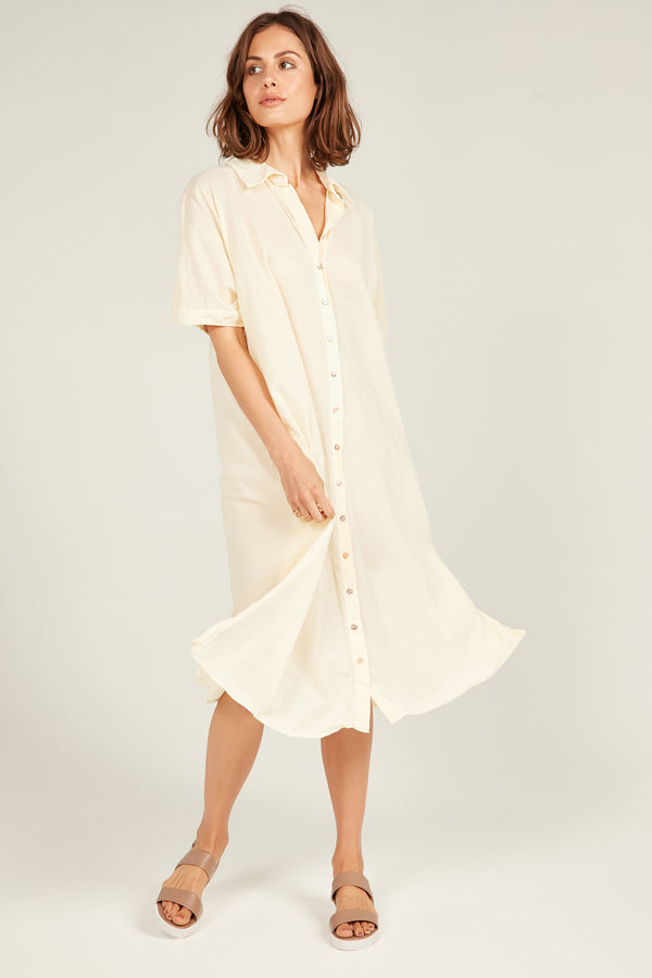 DEVOILE SHIRT DRESS - SUNFIELD YELLOW