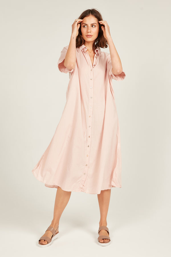 DEVOILE SHIRT DRESS - WILDER PINK (PRE-ORDER)
