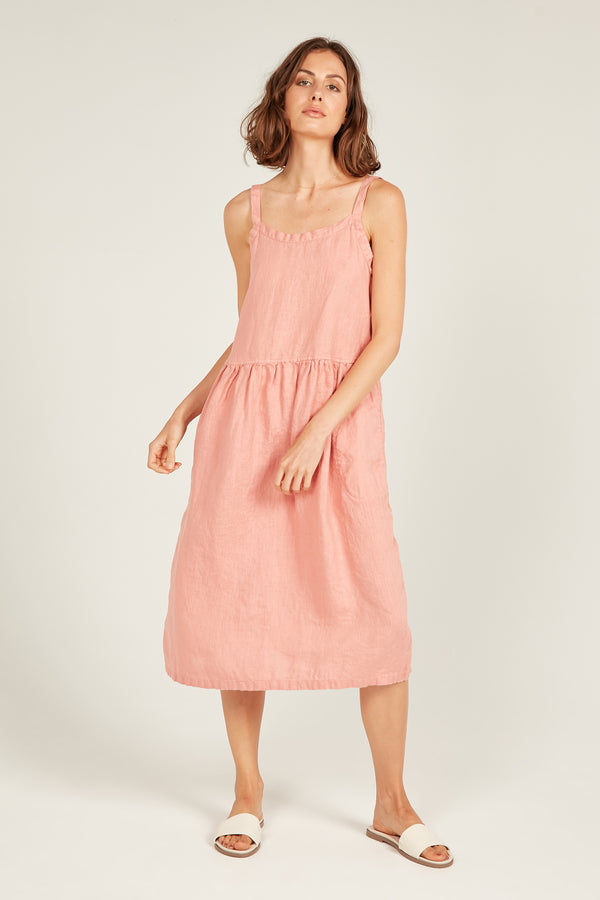 TIPA DRESS - POPPY PINK (PRE-ORDER)