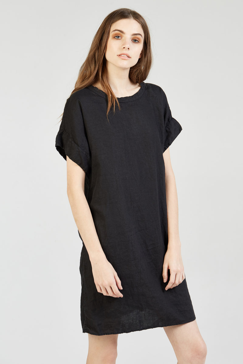 LINEN DRESS - NOIR (FINAL SALE)