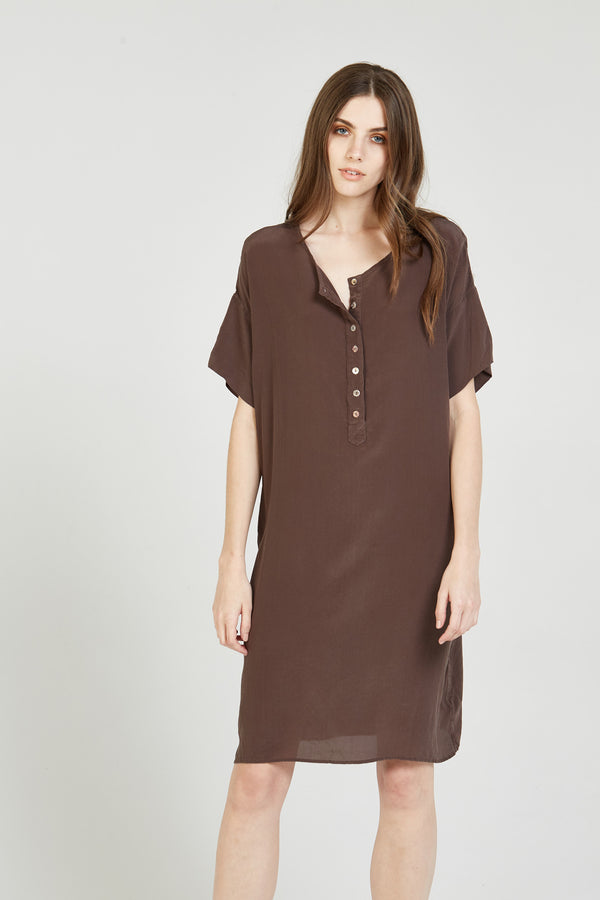 BESTY DRESS - WALNUT